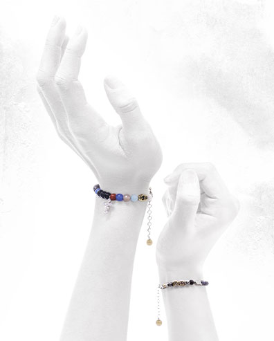 Bracciali in argento gioielli religiosi